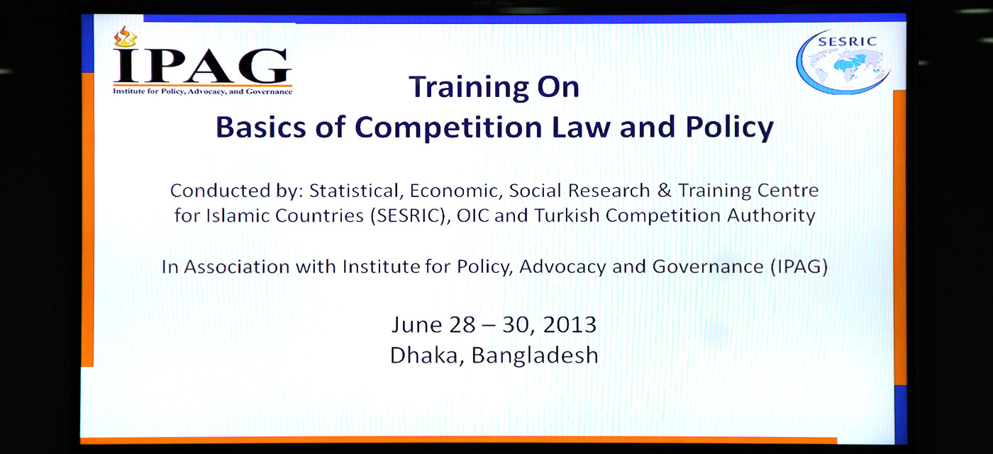 Training Session & Workshop on Competition Law and Policy, June 28 – 30, 2013