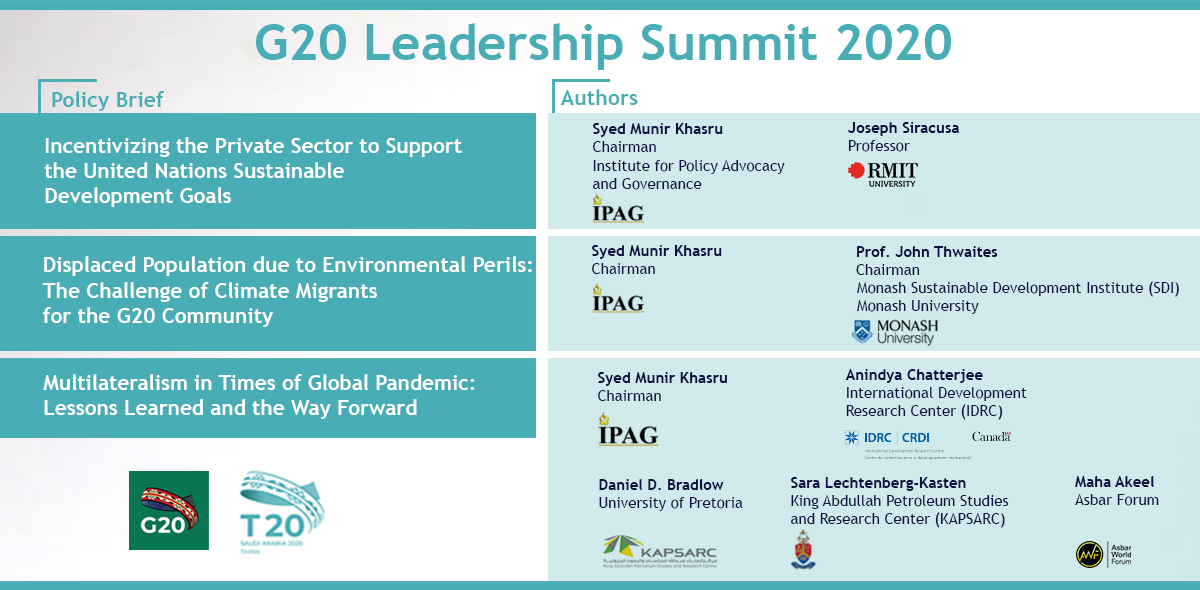 IPAG Policy Briefs for G20 Leadership Summit 2020