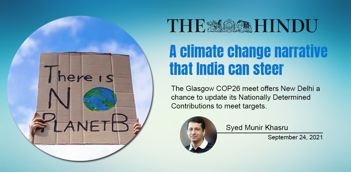 A climate change narrative that India can steer