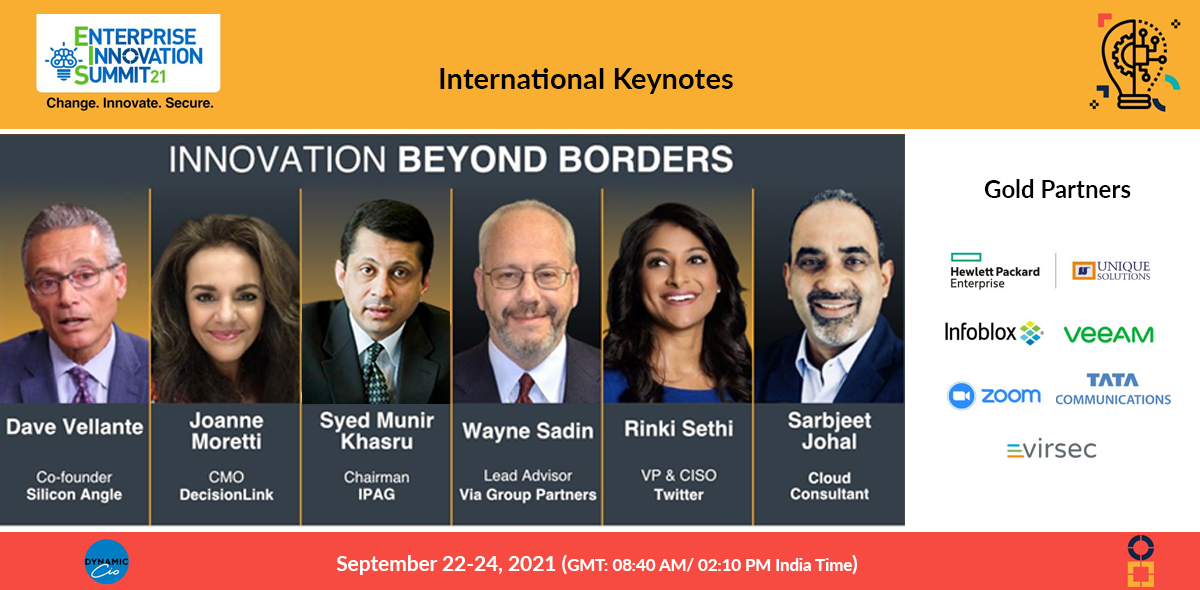 Enterprise Innovation Summit, Sept 22-23, 2021, New Delhi, India