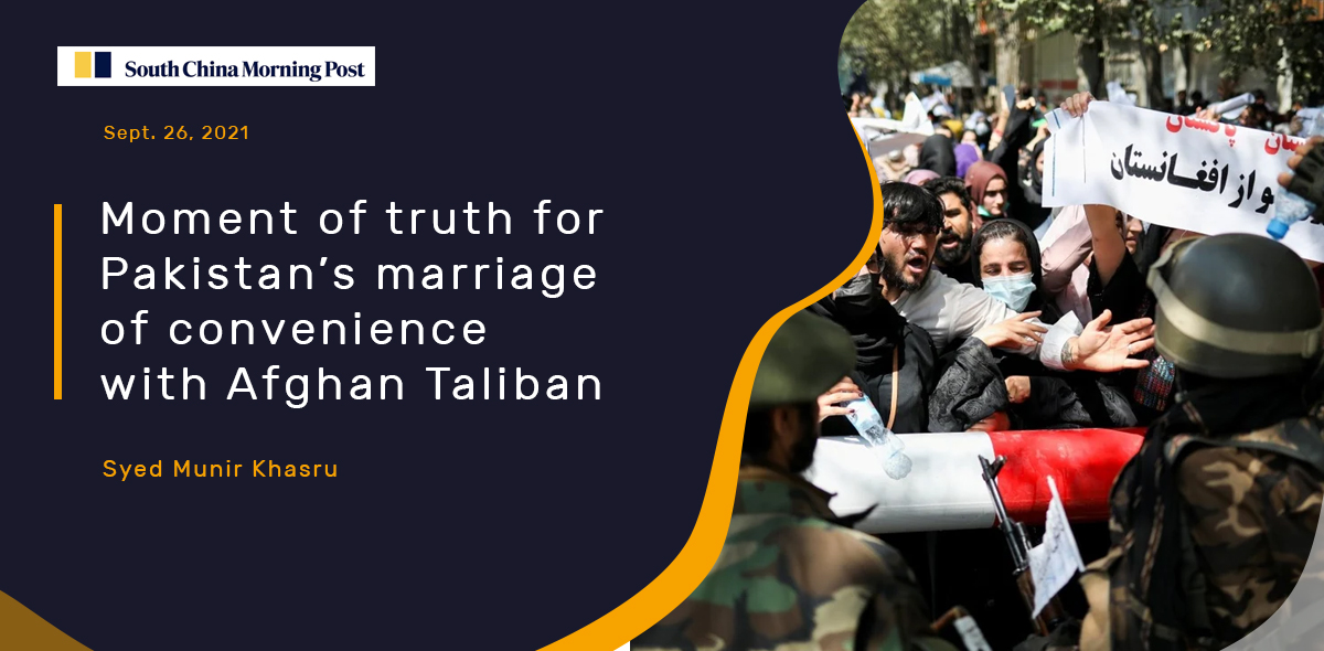 Moment of truth for Pakistan's marriage of convenience with Afghan Taliban
