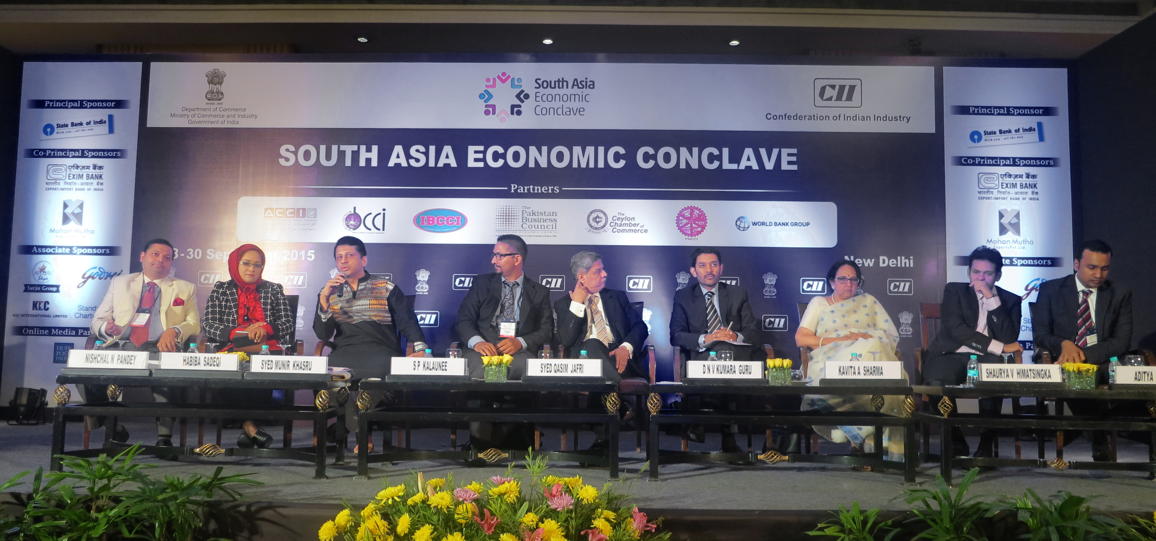 The South Asia Economic Conclave, September 28-30, 2015