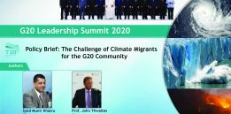 """G20 Policy Brief on """"Displaced Population due to Environmental Perils: The Challenge of Climate Migrants for the G20 Community"""""""